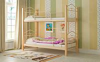 Двухъярусная кровать Тиара 80х190, металлическая двухъярусная кровать, выбор цвета Доставка 250грн, фото 1