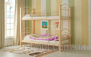 Двухъярусная кровать Тиара 80х190, металлическая двухъярусная кровать, выбор цвета Доставка 250грн