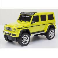 Автомодель - MERCEDES-BENZ G500 1:26 со светом, звуком, инерционная для детей от 3 лет ТМ GearMaxx Желтый /серебр. 89801