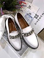Круті жіночі туфлі GIVENCHY білі (репліка), фото 1