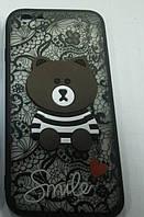 Чехол Мишка Smile Xiaomi Redmi 4X (Black)