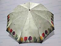 Женский зонт полуавтомат цветы  , фото 1
