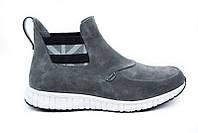 Мужские ботинки Gross демисезонные замшевые серые 0003ГР
