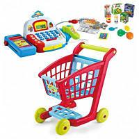 Пластичная корзина покупок+интеллектуальный кассовый аппарат детские игрушки Цветной
