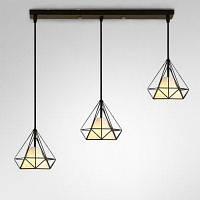 BRELONG светодиодная подвесная лампа с формой алмаза в североевропейском старинном стиле Тёплый белый