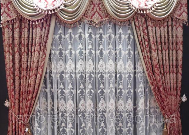 ламбрекен пошив со шторами в интернете недорого