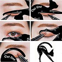 """Набор многоразовых трафарет стрелок для глаз """"Кошка"""", фото 1"""