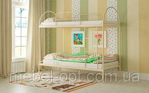 Двухъярусная кровать Сеона 80х190, металлическая двухъярусная кровать, выбор цвета Доставка 250грн