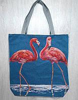 Пляжная, городская сумка с принтом фламинго
