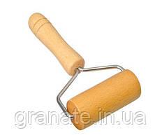 Валик/скалка для раскатки теста (дерево)10х18 см