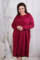 Нарядное платье с кардиганом Батал до 60 размера 15849, фото 1