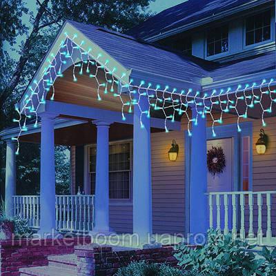 Новогоднее оформление дома, светодиодная бахрома
