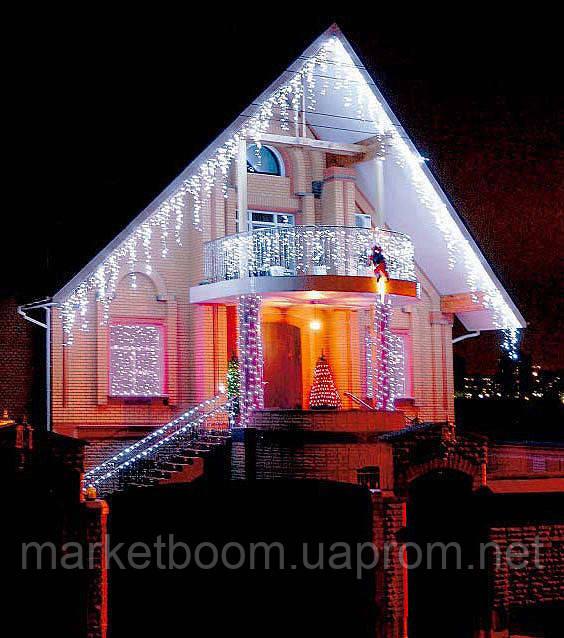 Новогоднее оформление дома, праздничная иллюминация