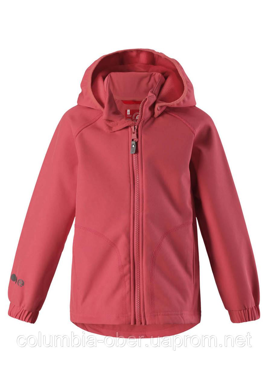 Куртка демисезонная из материала Softshell для девочки Reima Vantti 521540-3340. Размер 104.