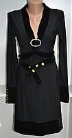 Трикотажное платье длинный рукав черного цвета, фото 1