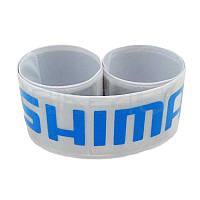Светоотражающая защита штанов от попадания в цепь, серая SHIMANO (фликер)