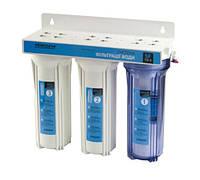 Система фильтрации воды трехступенчатая с краном Насосы+Оборудование SF10-3