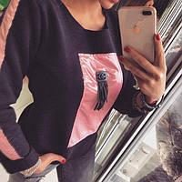 Женская кофта-свитшот на флисе 88023