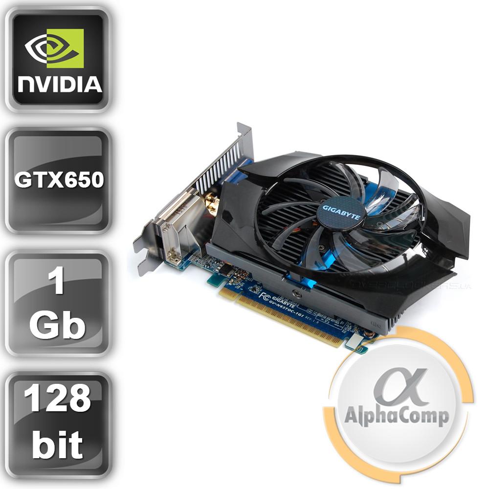 Видеокарта PCI-E NVIDIA Gigabyte GTX650 (1Gb/GDDR5/128bit/2xDVI/HDMI/VGA) БУ
