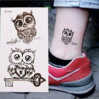 """Татуювання - наклейка """"Сови"""""""