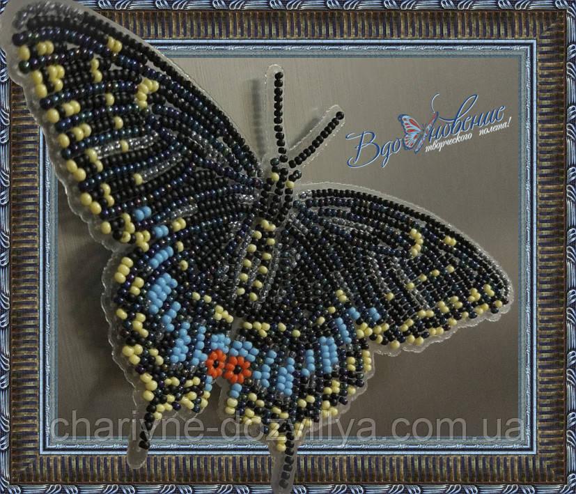 """Набор для вышивки бисером """"Бабочка Черный Махаон"""""""