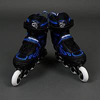 Ролики 6006 M Blue - Best Rollers /размер 35-38/ колёса PU, без света, d=7см