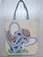 Пляжная, городская сумка с милым принтом слоненка