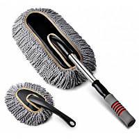 CARSETCITY Выдвижная ручая щётка для удаления пыли с автомобиля Серый