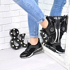 (ТОЛЬКО 36 И 38 РАЗМЕРЫ) Кроссовки женские черные, качество люкс, фото 2