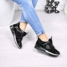 (ТОЛЬКО 36 И 38 РАЗМЕРЫ) Кроссовки женские черные, качество люкс, фото 3