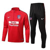 Футбольный костюм Атлетико Мадрид, сезон 17-18 (красный)
