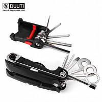 DUUTI 16 в 1 Многофункциональный велосипед ремонт инструмент Чёрный