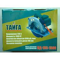 Дисковая пила Тайга 185-1500 + лазер