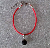 Красная нить оберег натуральный камень Шунгит