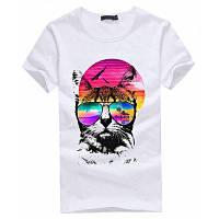 Модная повседневная футболка для женщин с 3D цветными цветами модная одежда M