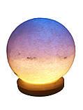 Соляна лампа «Куля» 6-7 кг кольорова лампа, фото 2