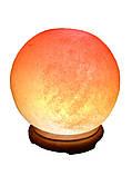 Соляна лампа «Куля» 6-7 кг кольорова лампа, фото 3