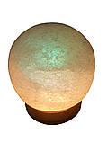 Соляна лампа «Куля» 6-7 кг кольорова лампа, фото 4