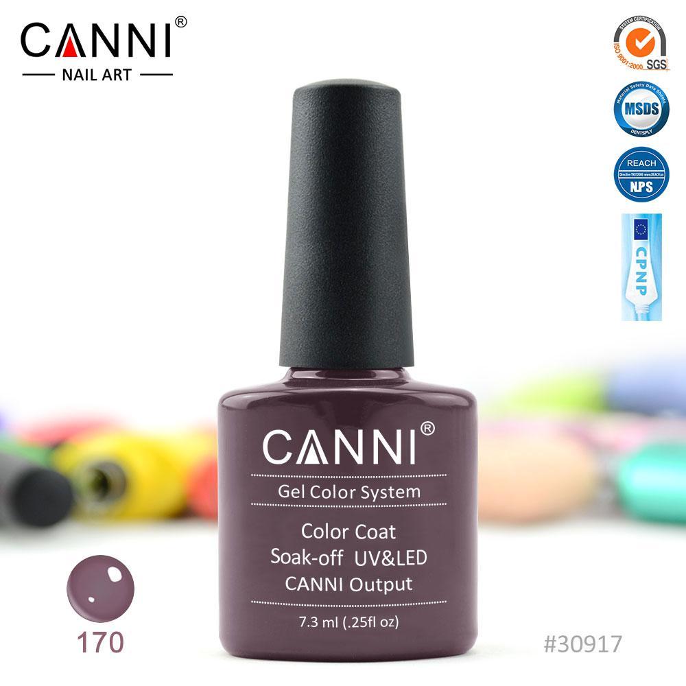 Гель-лак Canni 170 сіро-коричневий 7.3 ml