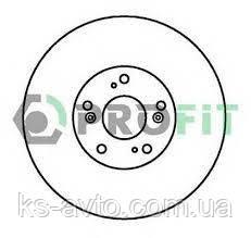Диск передній гальмівний Honda Akord 03 - ДПТ PROFIT 5010-1424