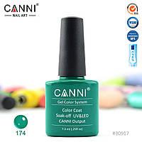 Гель-лак Canni 174 нефритовый 7.3ml
