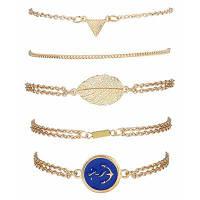 Сплав Strand браслеты с якорем знак лодка Золотой