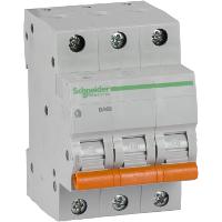 Автоматический выключатель Schneider Electric 3P ВА63 Домовой 20А С 4,5кА  (11224)