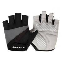 WOSAWE(BST-008-B) Пара перчаток с половинными пальцами для езды на велосипеде перчатки XL