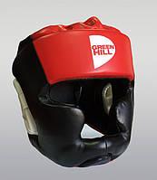 Шлем бокс POISE искусственая кожа черный р.M GREEN HILL