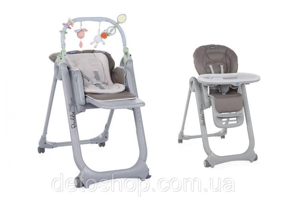 стульчик для кормления Chicco Polly Magic Relax Dove Grey цена 3