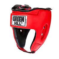 Шлем бокс UBF LOGO кожа красный р.M GREEN HILL