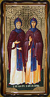 Святые Петр и Феврония 112х57см или 110х80см