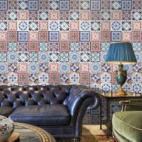 Богемский Цветочным Узором Виниловые Декоративные Наклейки Стены Разноцветный