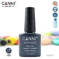 Гель-лак Canni 180 темно-бирюзовый 7.3ml